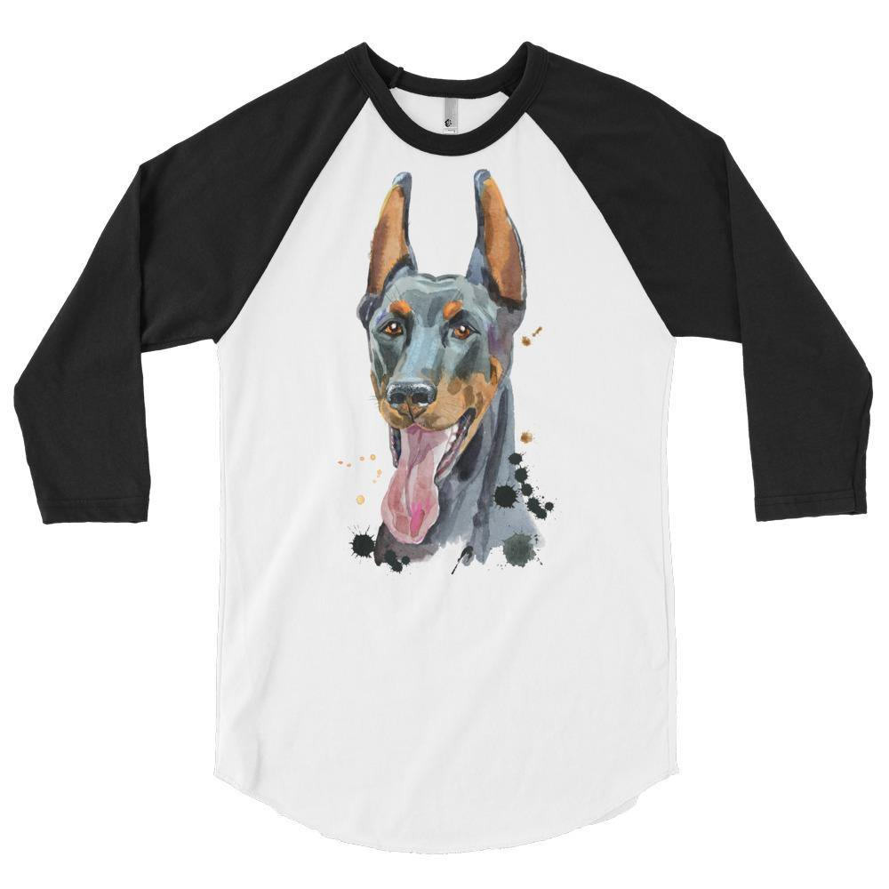3/4 sleeve raglan Doggie shirt - 3/4 sleeve raglan Doggie shirt - Printer Me - Fashion & Style
