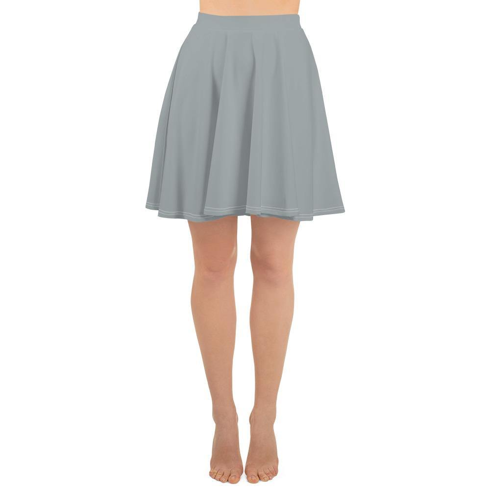 Grey Skater Skirt - Printer Me - Fashion & Style