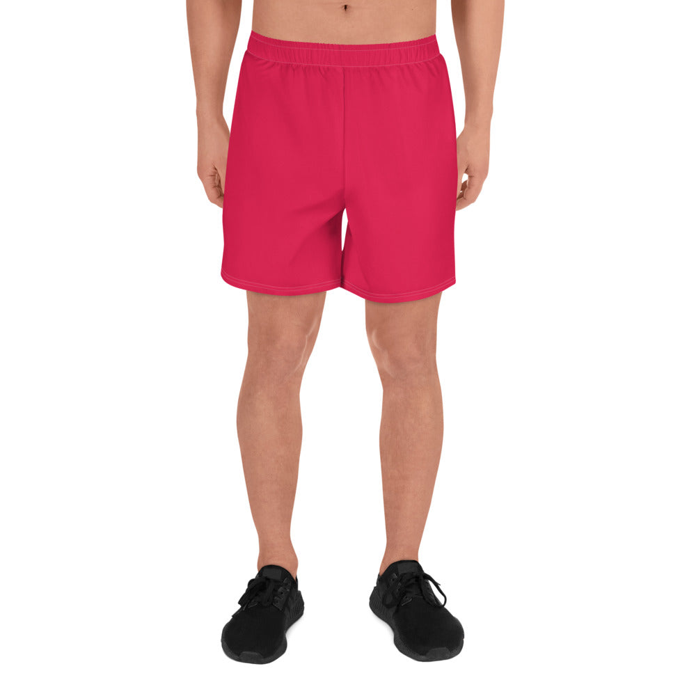 Simple Red Men's Athletic Shorts
