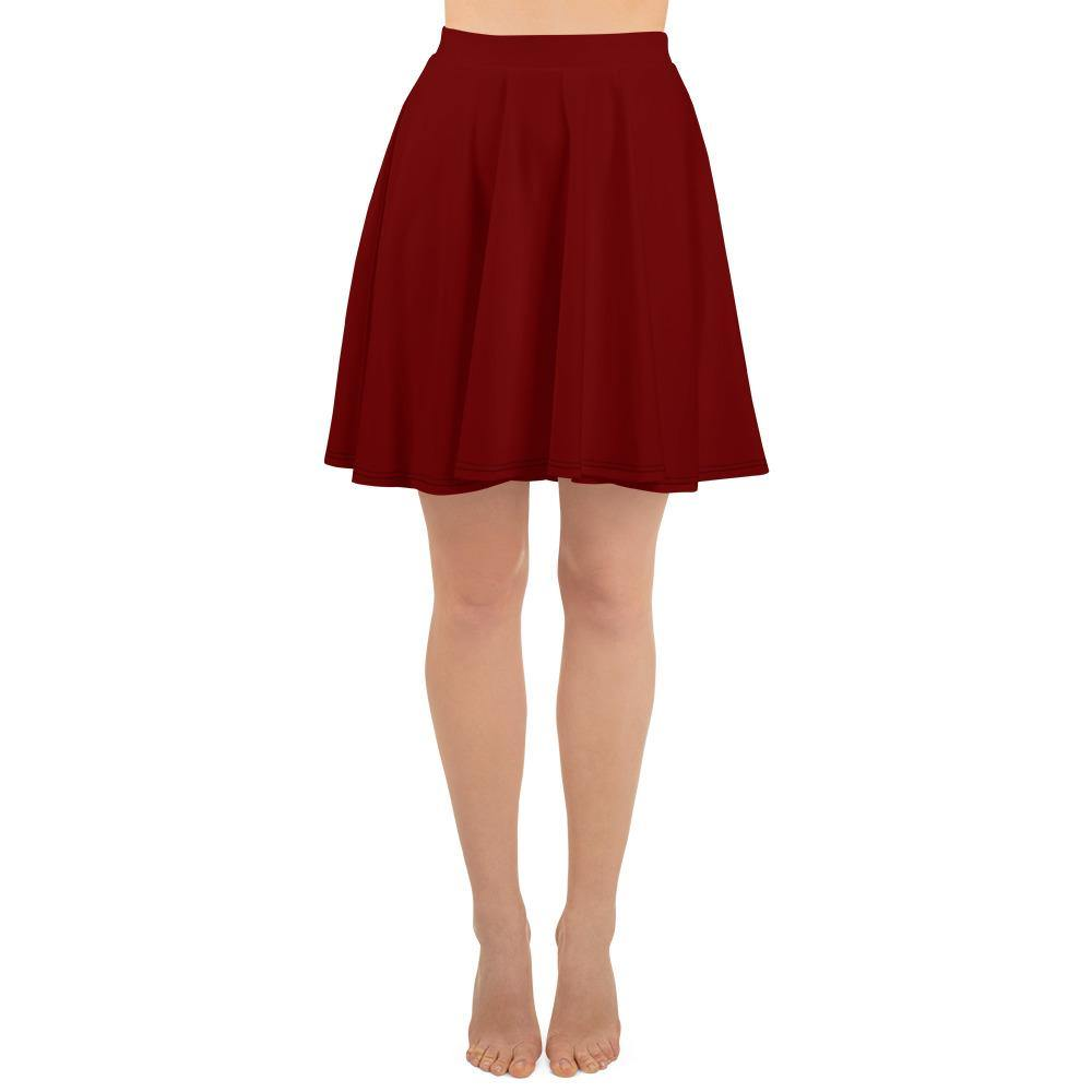 Deep Red Skater Skirt - Printer Me - Fashion & Style