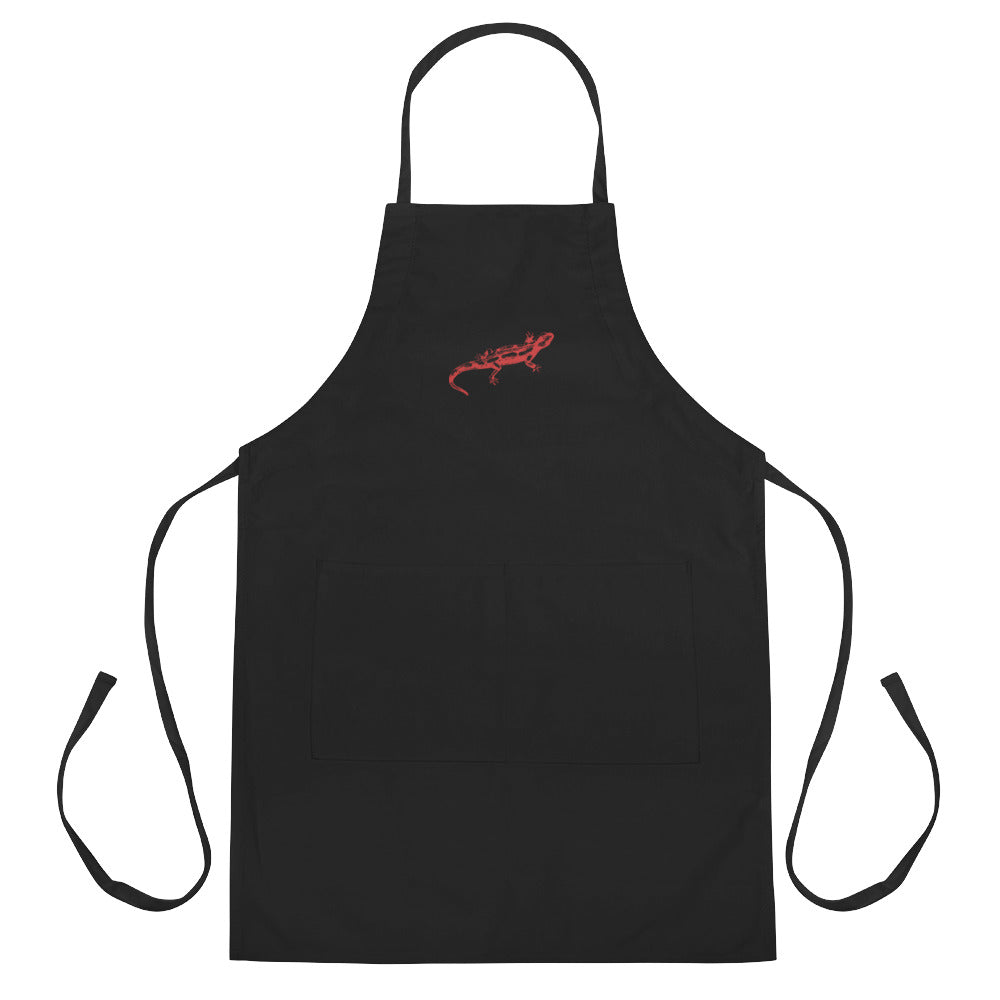 Lizard Embroidered Apron