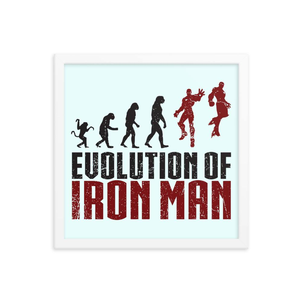 Evolution of Iron Man Framed poster - Printer Me - Fashion & Style