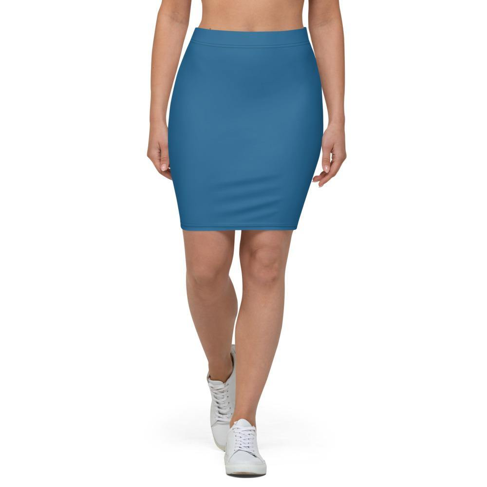 Navy Blue Pencil Skirt - Printer Me - Fashion & Style