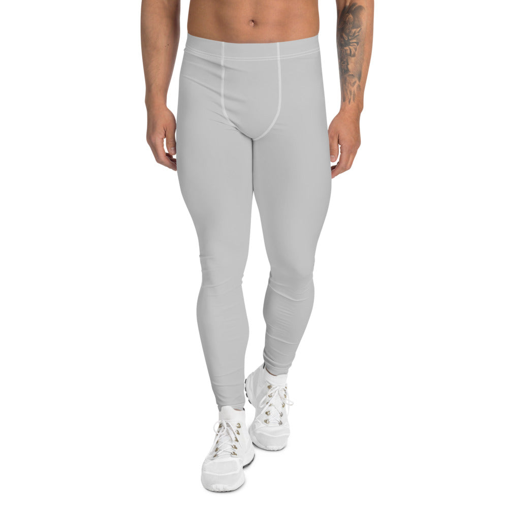 Simple Grey Men's Sports Tights