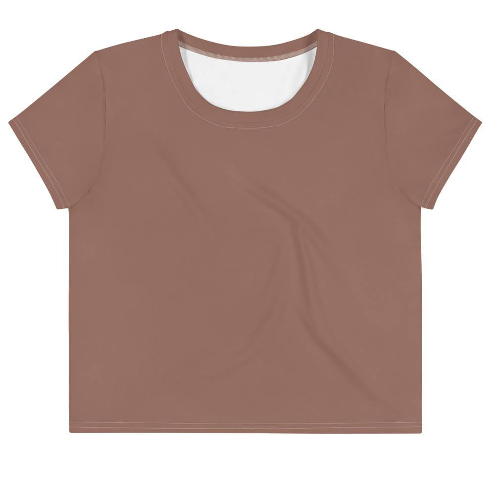 Earth Brown Crop Tee - Printer Me - Fashion & Style