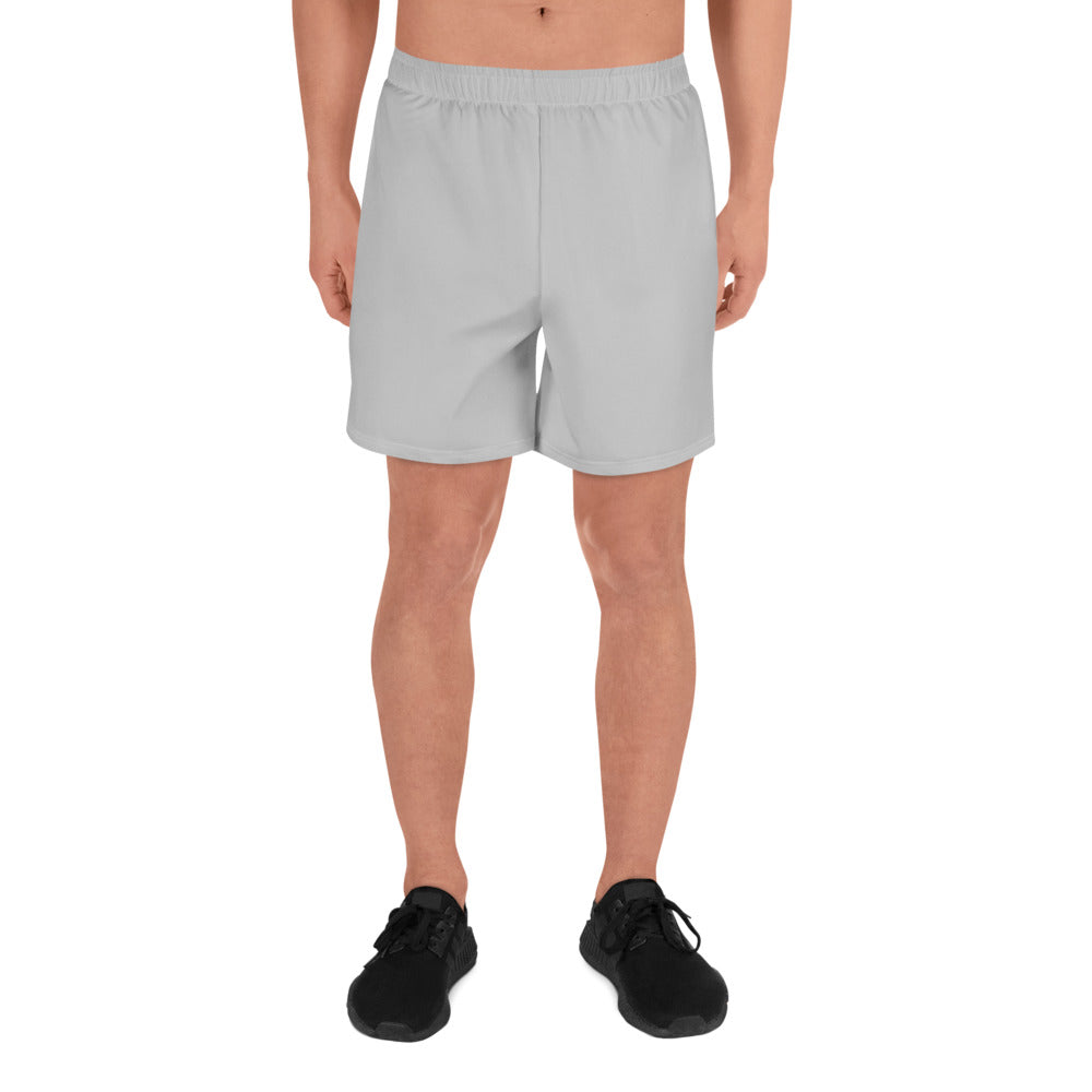 Simple Grey Men's Athletic Long Shorts