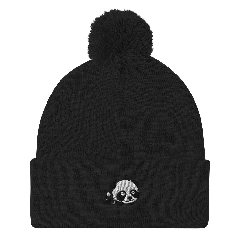 Panda Pom-Pom Beanie - Printer Me - Fashion & Style