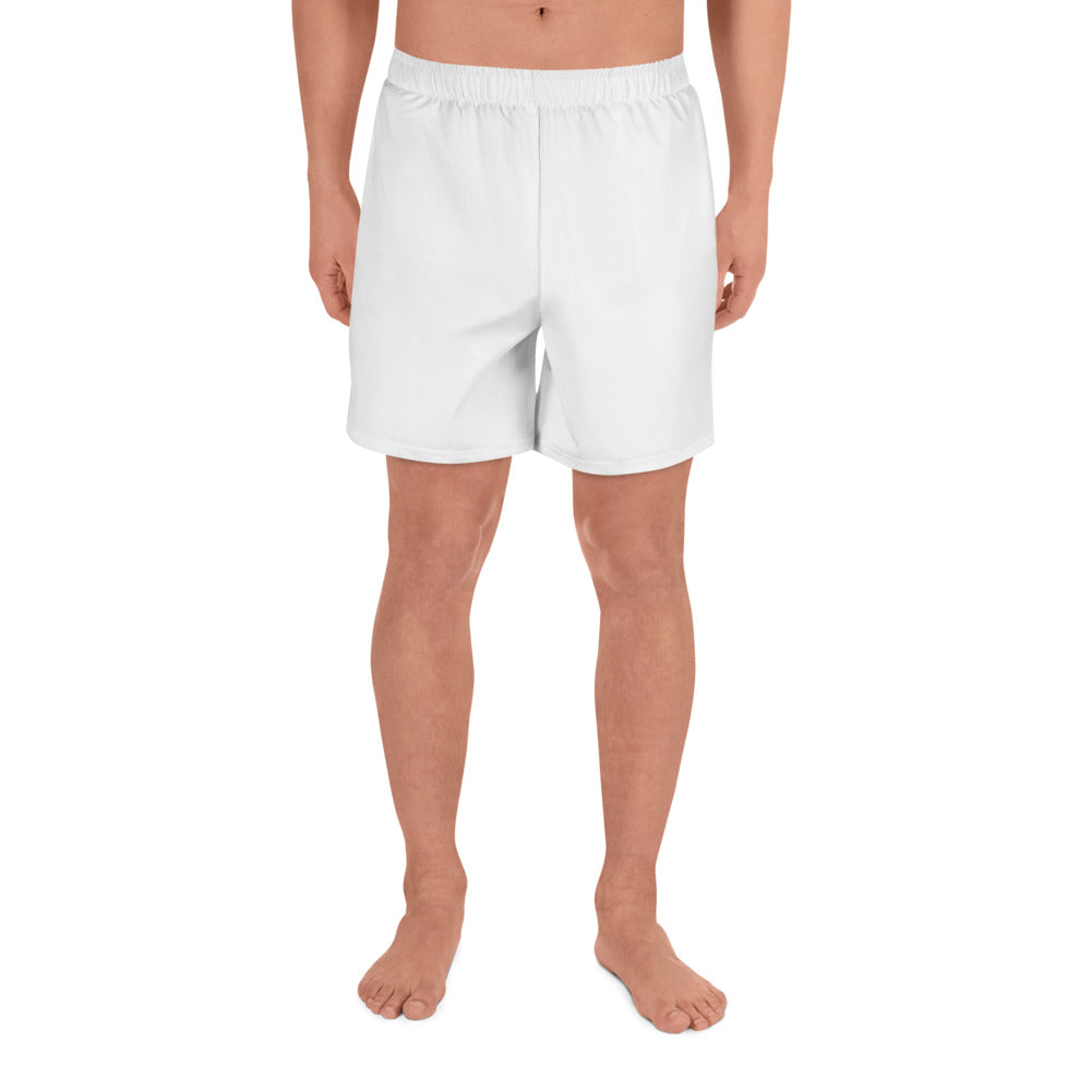 White Men's Athletic Shorts