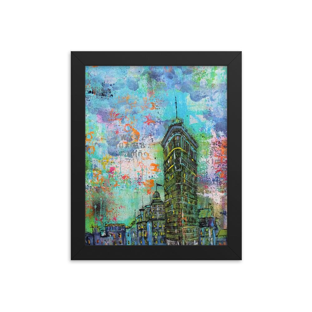 Colorful City Framed poster - Printer Me - Fashion & Style