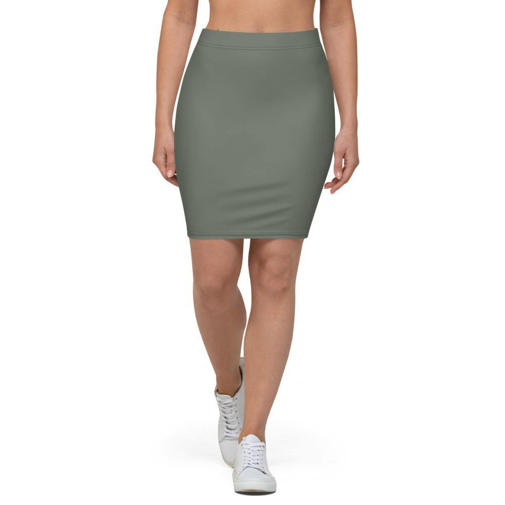 Olive Pencil Skirt - Printer Me - Fashion & Style