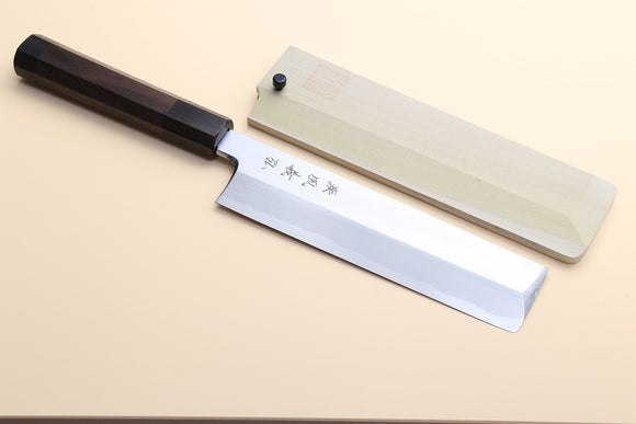 Yoshihiro Aonamiuchi Blue Steel Edo Usuba Japanese Vegetable Knife Shitan Rosewood