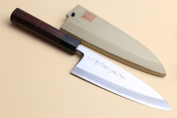 Yoshihiro Hongasumi Blue Steel Deba fish fillet Chef knife Shitan handle