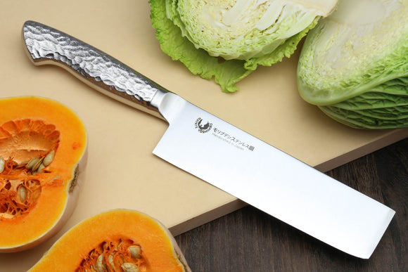 Yoshihiro Hayate Inox Aus-8 Nakiri Japanese Vegetable Knife Integrated Stainless Handle