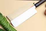 Yoshihiro Kasumi White Steel Edo Usuba Traditional Japanese Vegetable Chopping Chef Knife, Rosewood Handle