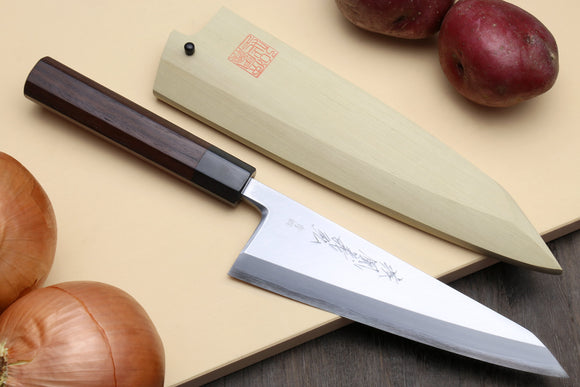 Yoshihiro Hongasumi Blue Steel #2 Garasuki Traditional Japanese Poultry Boning Knife Rosewood Handle