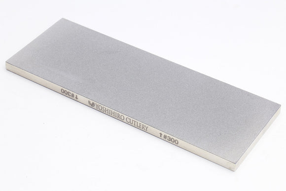 Yoshihiro Premium Double-Sided Diamond Sharpening Plate/Stone Fixer (300 grit/300 grit)
