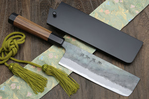 Yoshihiro Aogami Super Blue High Carbon Kurouchi Nakiri Vegetable Knife