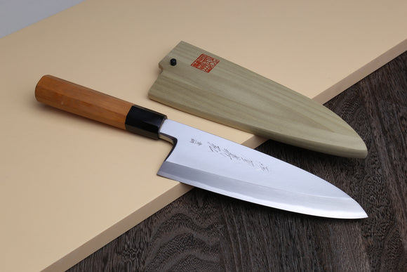 Yoshihiro Aonamiuchi Blue Steel #1 Deba Fish Fillet Knife Yew Handle