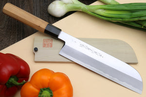 Yoshihiro Aonamiuchi Blue Steel #1 Kama Usuba Traditional Japanese vegetable Chopping Chef Knife