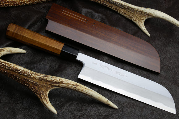 Yoshihiro Hongasumi Blue Steel Deba fish fillet Chef knife 7″ (180mm) Fuki Urushi Lacquer