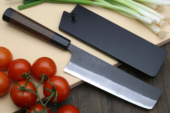 Yoshihiro Blue High Carbon Steel #1 Masashi Kurouchi Series Nakiri Japanese Vegetable Knife