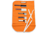Yoshihiro Japanese Knife Cotton Pouch Bag Orange Color (6 Slots)