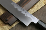 Yoshihiro Suminagashi Blue Steel #1 Kiritsuke Multipurpose Japanese Chef Knife Ebony wood Handle & Saya