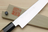 Yoshihiro VG-1 Gold Stainless Steel Petty Japanese Utility Knife Ambrosia Handle with Saya Cover