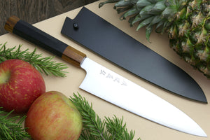Yoshihiro High Speed Stainless Steel Gyuto Chefs Knife Ebony Handle