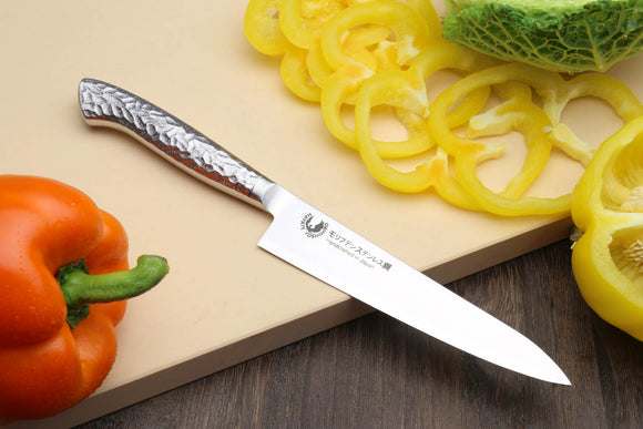 Yoshihiro Hayate Inox Aus-8 Petty Integrated Stainless Handle Japanese Chefs Utility Knife