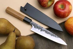 Yoshihiro Nashiji High Carbon White Steel #2 Petty Utility Japanese Chefs Knife