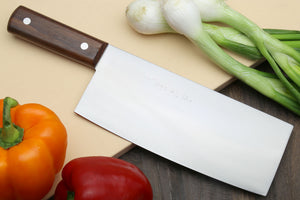 Yoshihiro High Carbon White Steel #2 Chinese Cleaver Vegetable Cutter Multipurpose Chef Knife