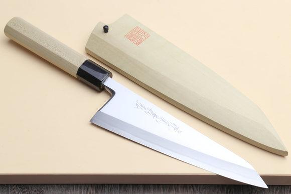Yoshihiro Hongasumi White Steel #2 Garasuki Traditional Japanese Poultry Boning Knife Magnolia Handle