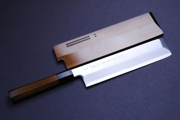 Yoshihiro Hongasumi Blue Steel Edo Usuba Traditional Japanese vegetable Chopping Chef Knife Fuki Urushi Lacquer