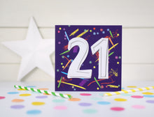 Load image into Gallery viewer, 21st Birthday Card.