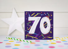 Load image into Gallery viewer, 70th Birthday card.