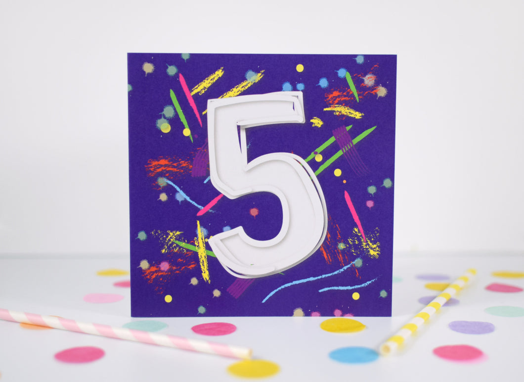 5th birthday card.