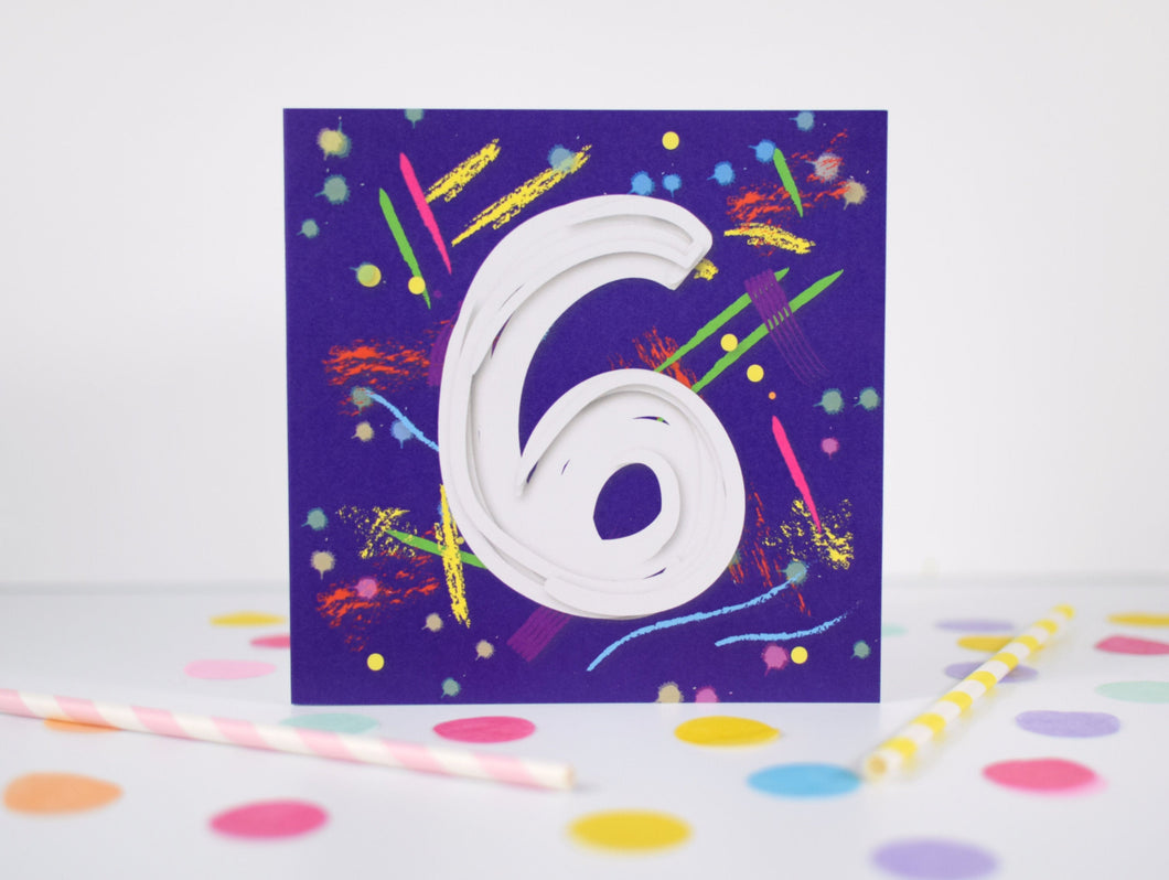 6th Birthday card.