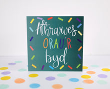 Load image into Gallery viewer, Athrawes Orau'r byd card. Welsh teacher card.