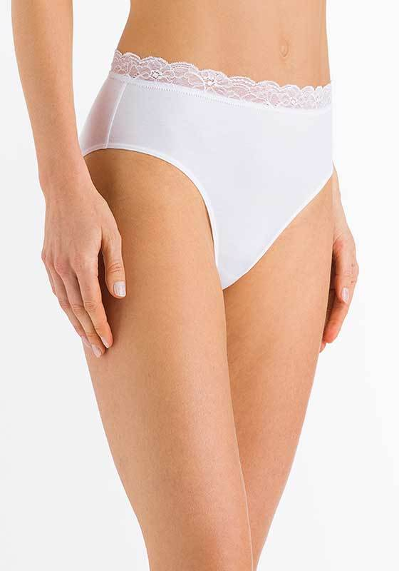 Hanro | Cotton Lace Maxi Brief | White