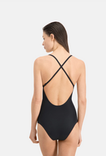 Load image into Gallery viewer, Puma | V Neck Cross Back Swimsuit | Black