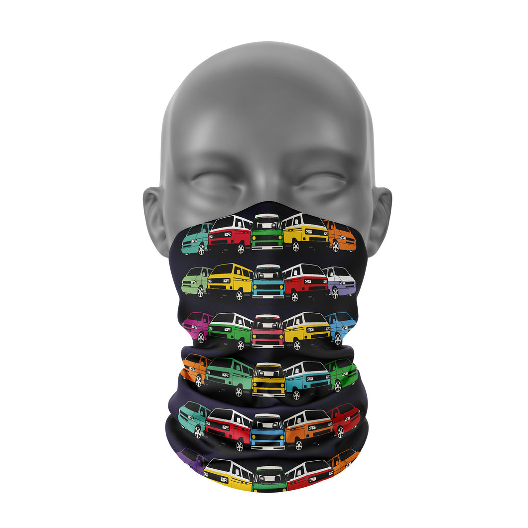 VW Camper van Black Snood / Buff / Neck Warmer