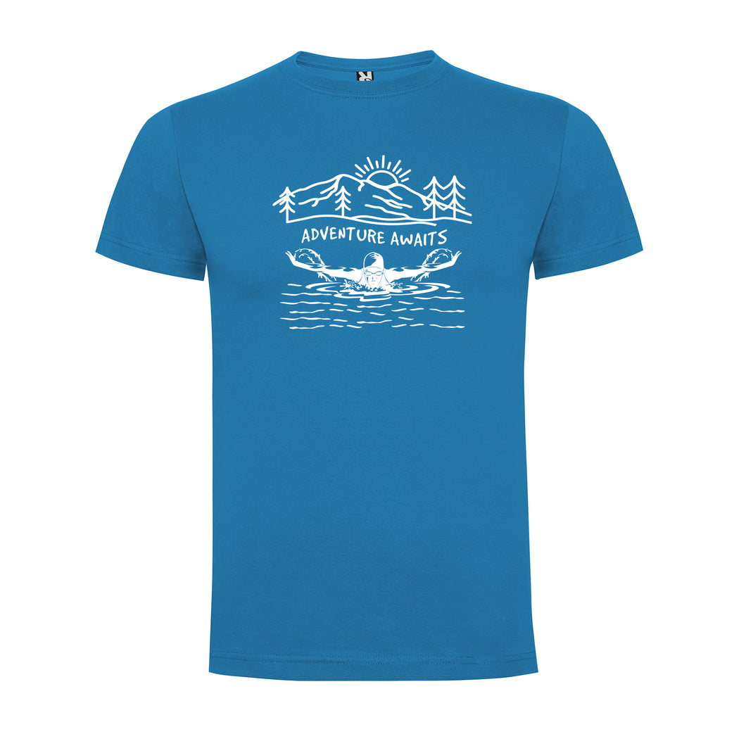 Adventure Awaits Open Water/Ice Swimming Men`s T-shirt