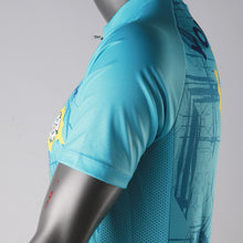 Load image into Gallery viewer, Yorkshire Rose Mens Short Sleeve Cycling Jersey (Aqua)