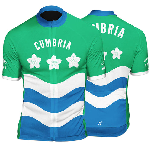 Cumbria County Mens Short Sleeve Cycling Jersey