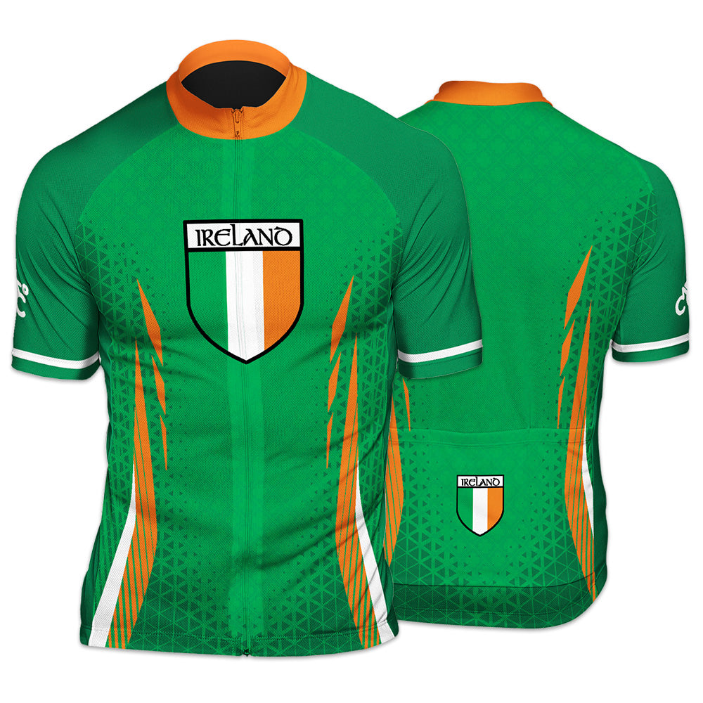 Ireland Countries Mens  Short Sleeve Cycling Jersey
