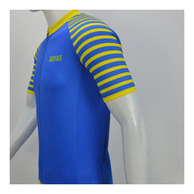 Load image into Gallery viewer, RAYAS Kids Cycling Jersey (Blue/Yellow)