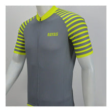 Load image into Gallery viewer, RAYAS Mens Cycling Jersey (Grey/Fluro Yellow)