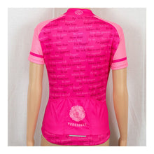 Load image into Gallery viewer, Yorkshire Dialect Kids Pink Short Sleeve Cycling Jersey