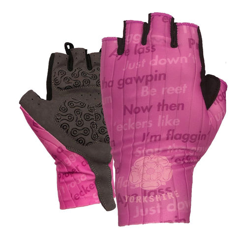 Yorkshire Dialect Womens Gel Cycling Gloves